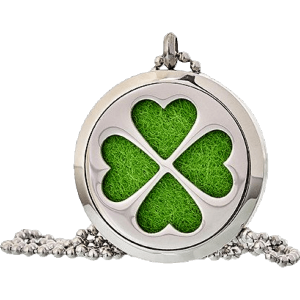 Four Leaf Clover Aromatherapy Jewellery Necklace - 30mm